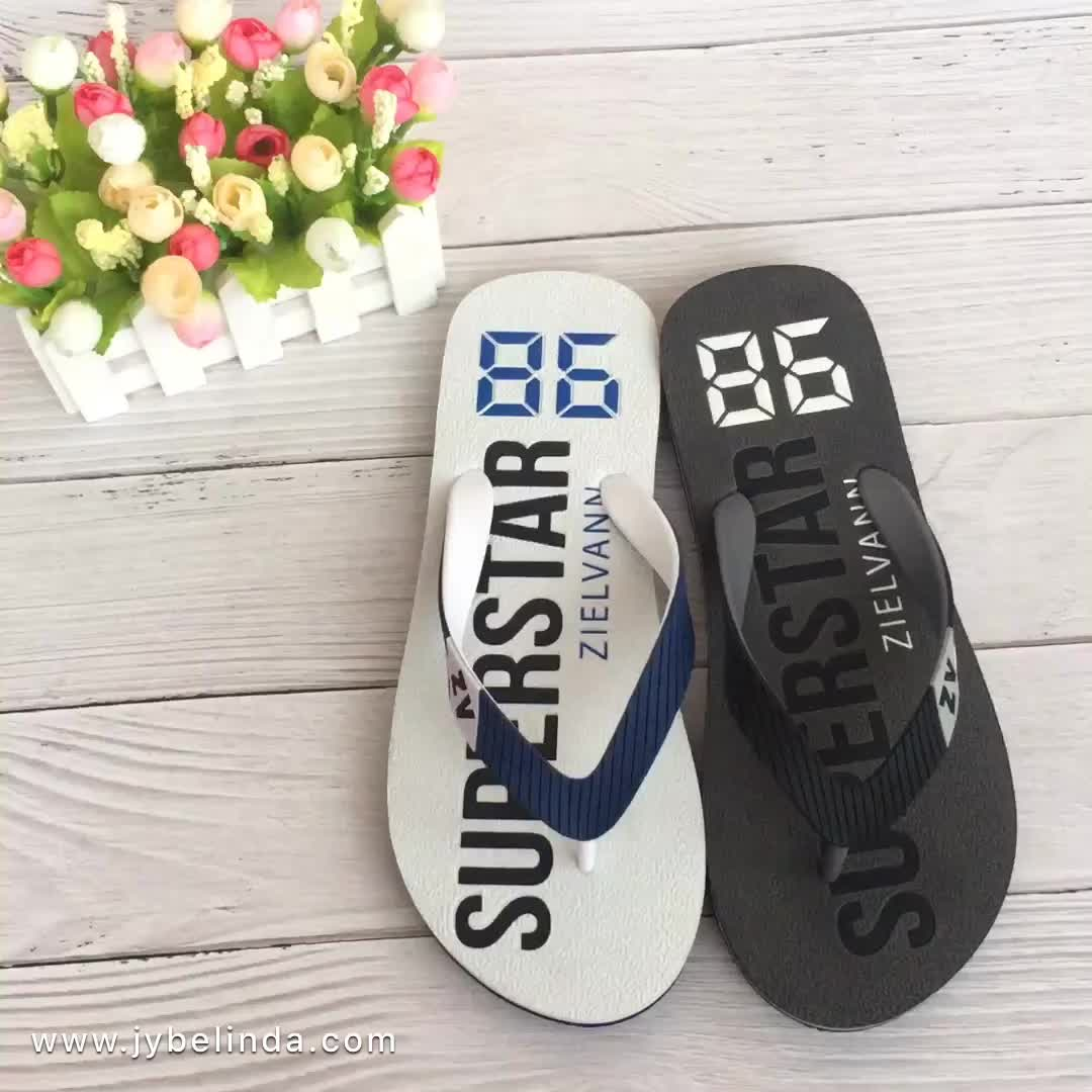New Design Women Beach Summer White Plain Slipper Custom Flip Flops