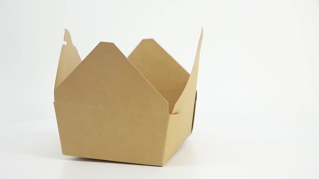 disposable microwave brown kraft paper lunch box