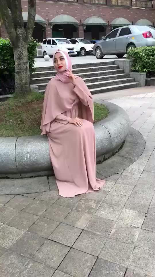 Blake Abayas Kadınlar Için İslami uzun kollu giyim Maxi Müslüman Elbise Bangladeş Kaftan Dubai Türkiye Elbise Bayanlar Müslüman Elbise