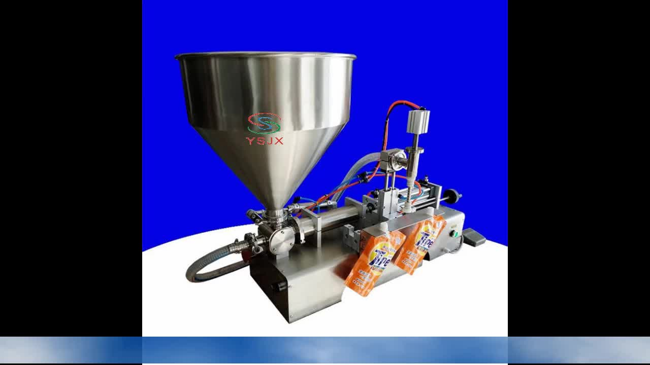 Semi Automatic laundry detergent doypack /toilet cleaner standing pouch filling machine