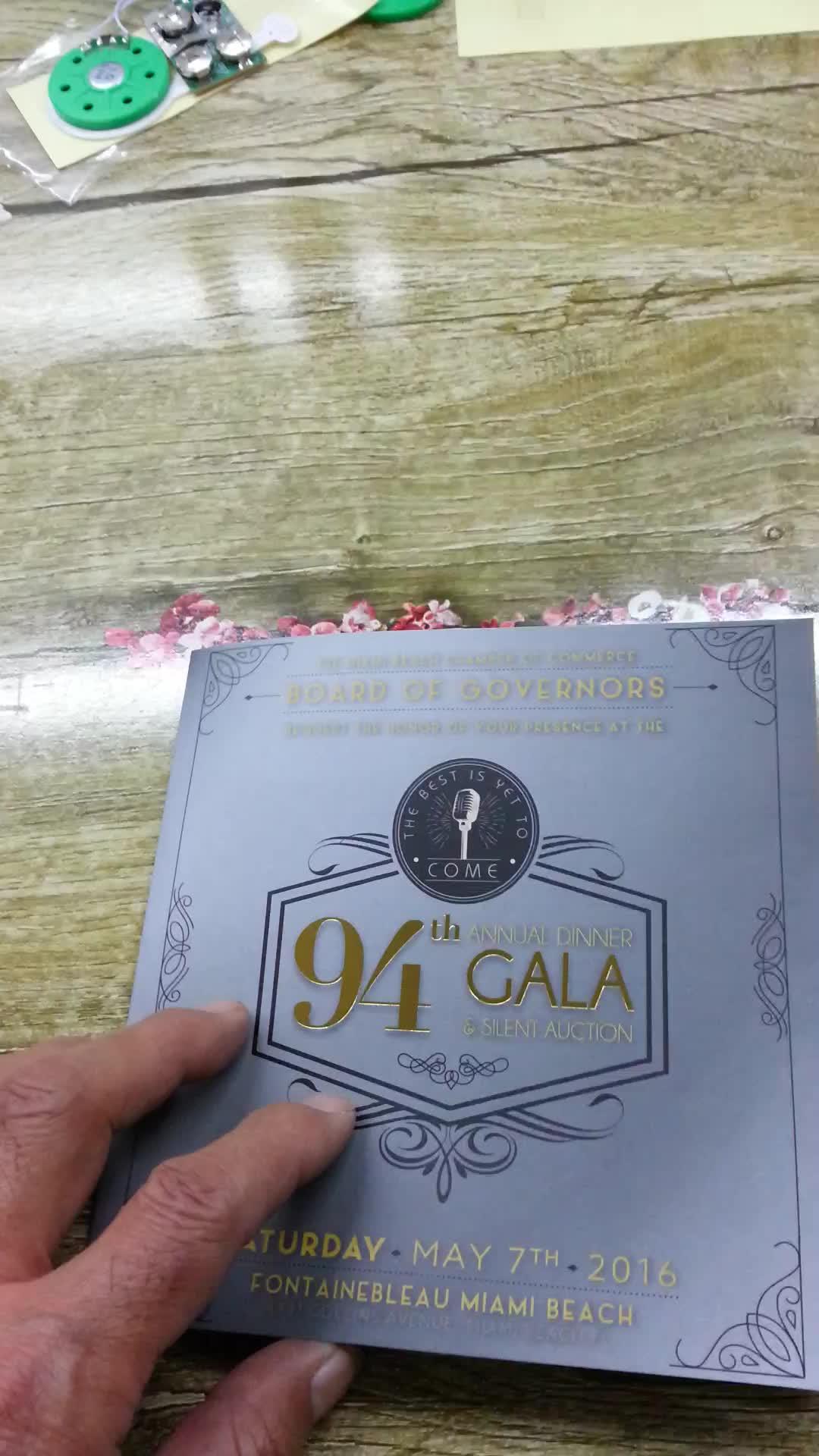 LED registrabile biglietto di auguri di san valentino, personalizzato musica leggera carta regalo