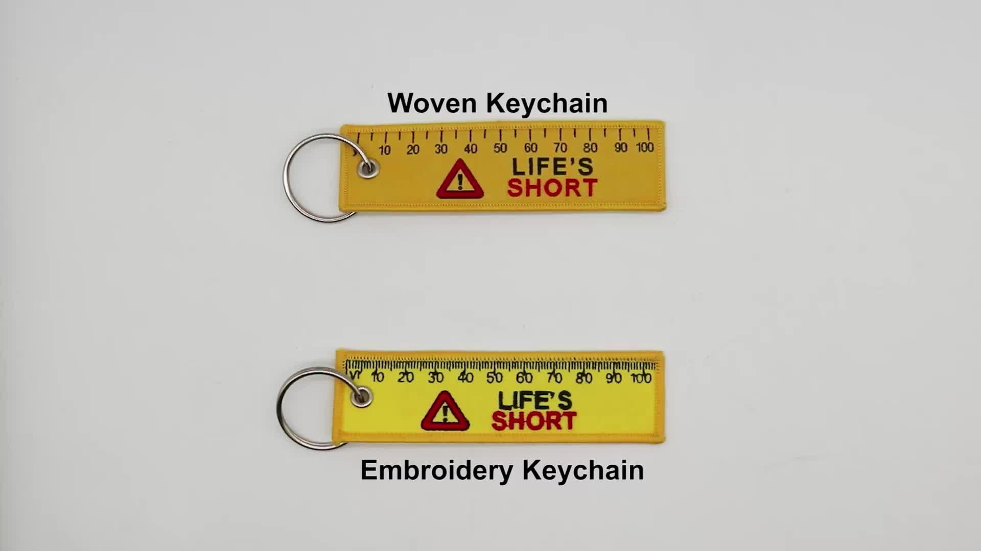 Tissé promotionnel porte-clés/porte-clés/porte-clés/porte-clés