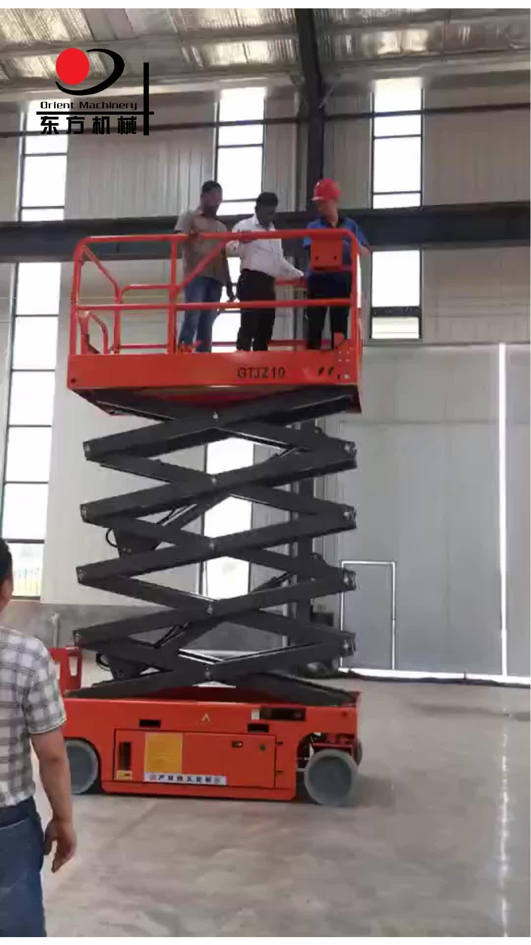Scissor o elevador auto-propulsão elétrica indoor ao ar livre plataforma de trabalho aéreo