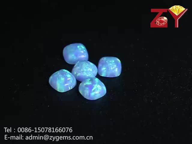 Synthetic Flat Back Marquise Cut White Opal Cabochon Wholesale