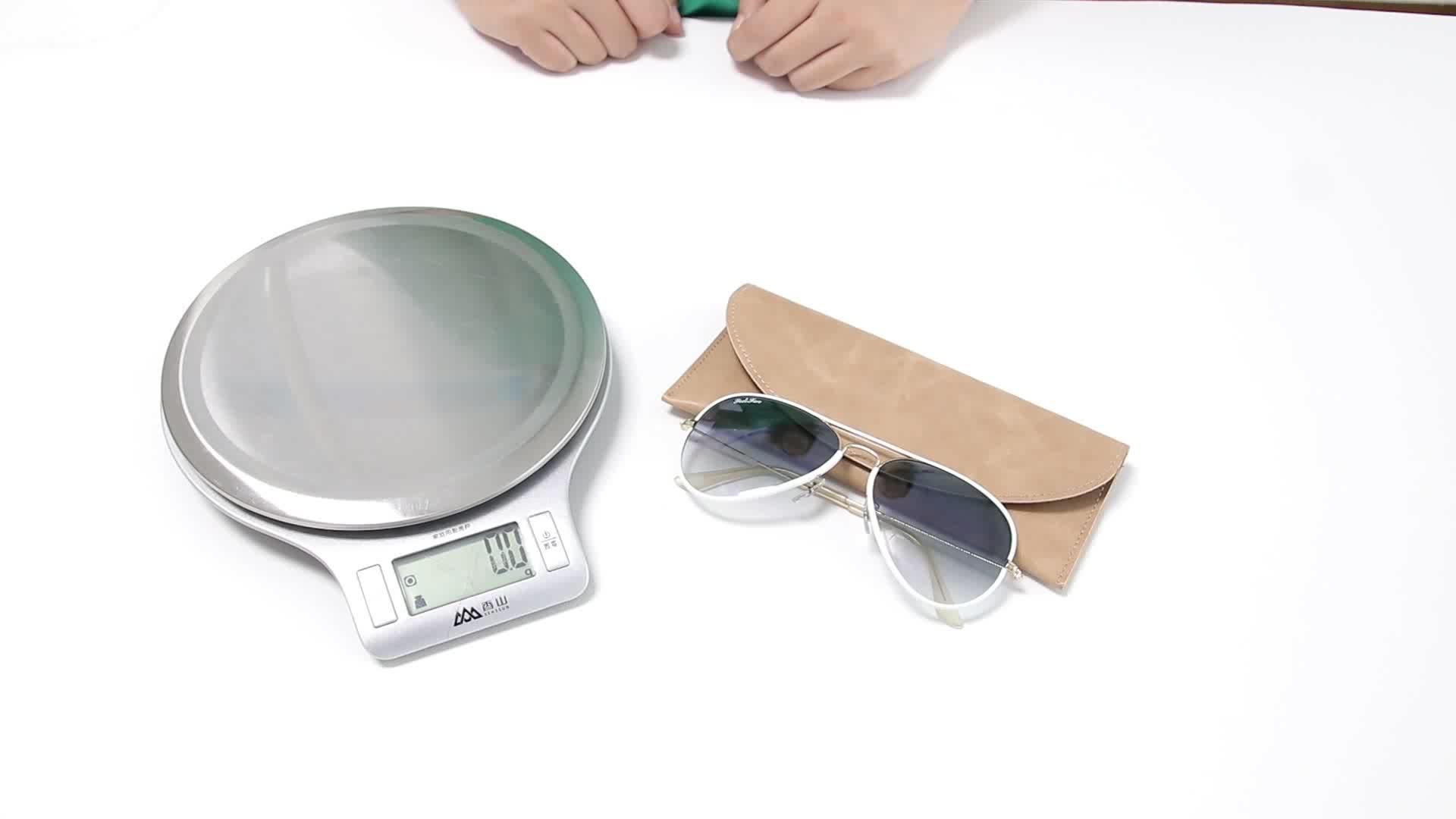 크림 색 eyewear 건 PU leather soft glasses case custom sunglass pouch 대 한 \ % sale