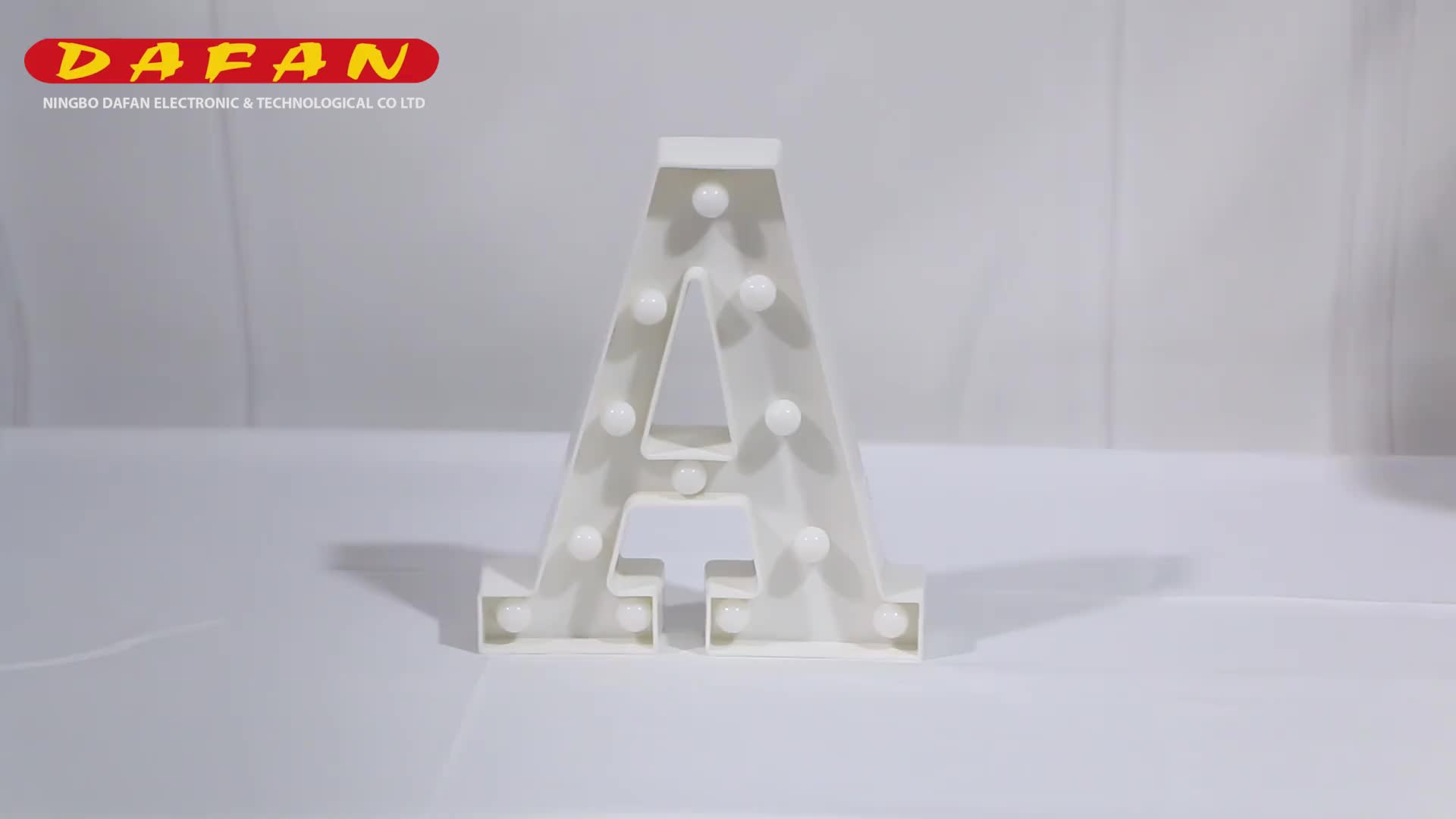 letter A high quality battery powered 3d table decoration Christmas marquee letter led wall light sign for party wedding