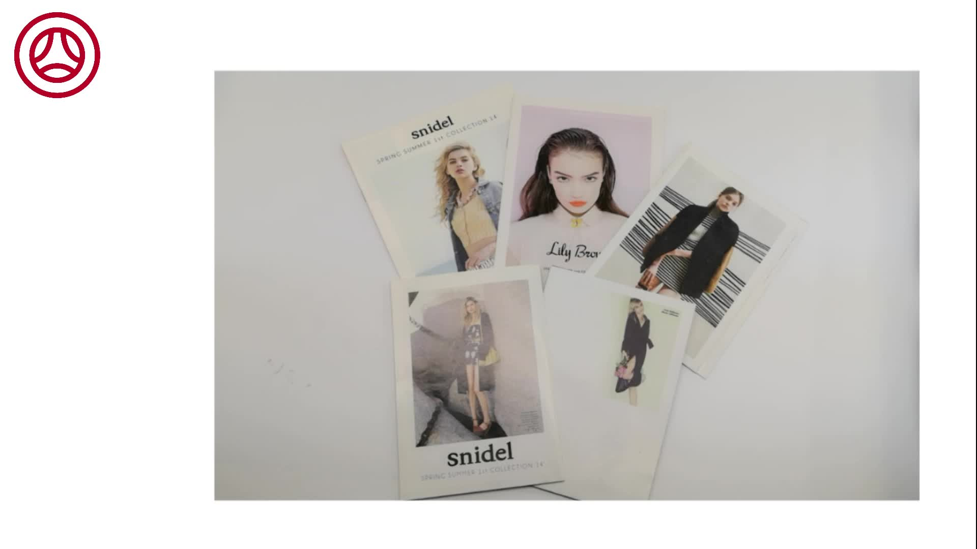 Custom Booklet Flyer Leaflet Printing High Quality Binding Brochure For Fashion Clothes