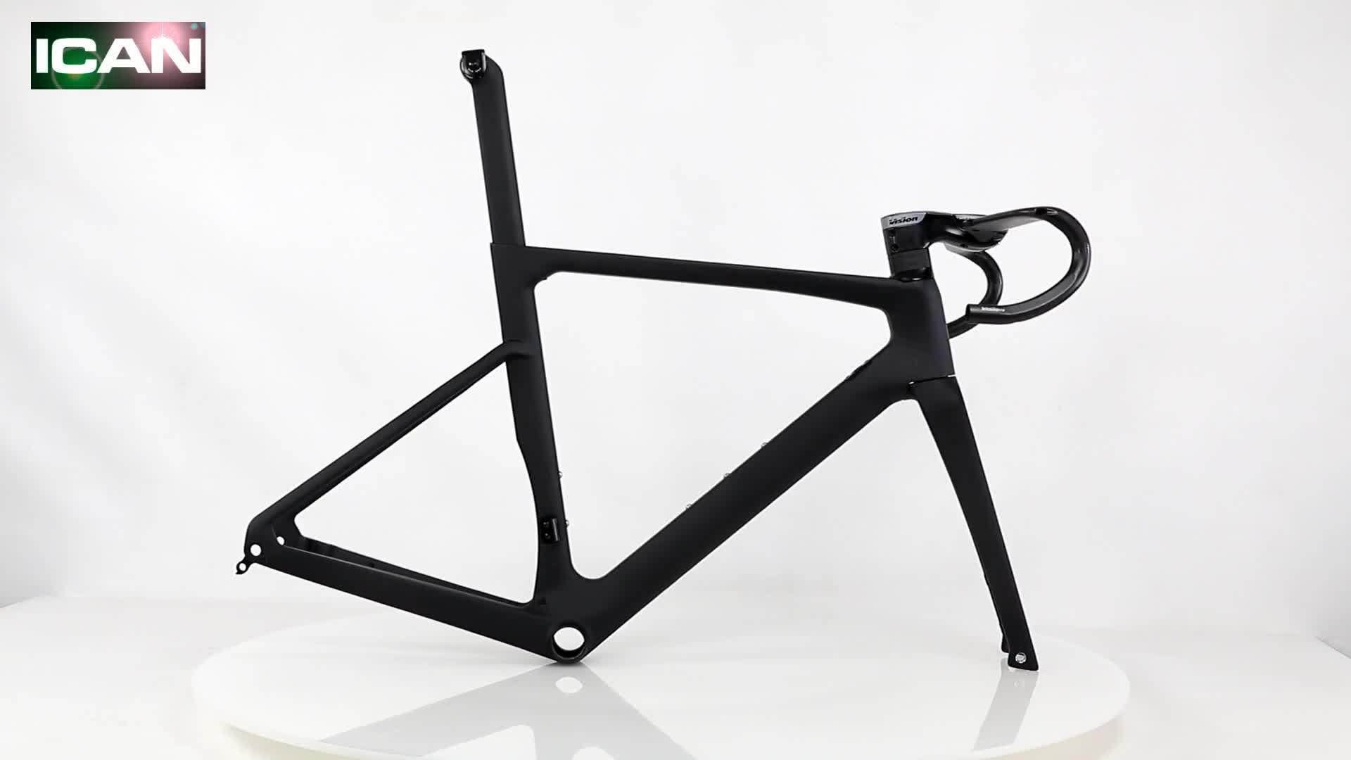 OEM  super light racing road bicycle T700 carbon frame disc  carbon road bike frame