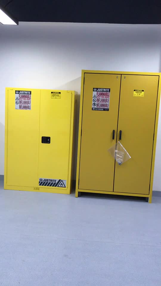 30Gallon Laboratory Flammable Cabinet,Fireproof Chemical Safety Cabinet
