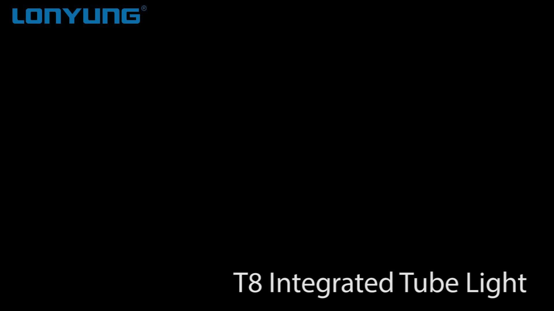 CE ได้รับการอนุมัติ Linkable led โคมไฟ T8 9 W แบบบูรณาการสำหรับการประยุกต์ใช้ในร่ม