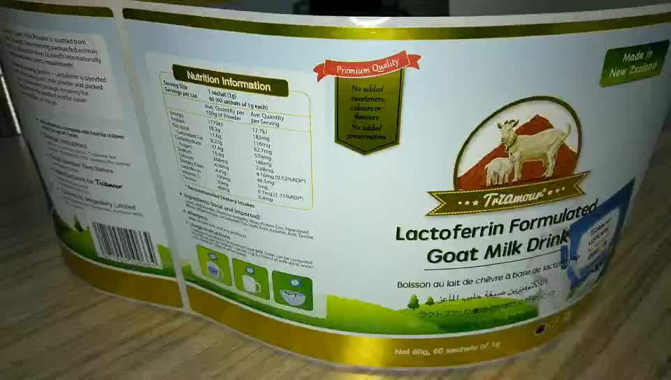 New product unique Reasonable price food safety sticker label