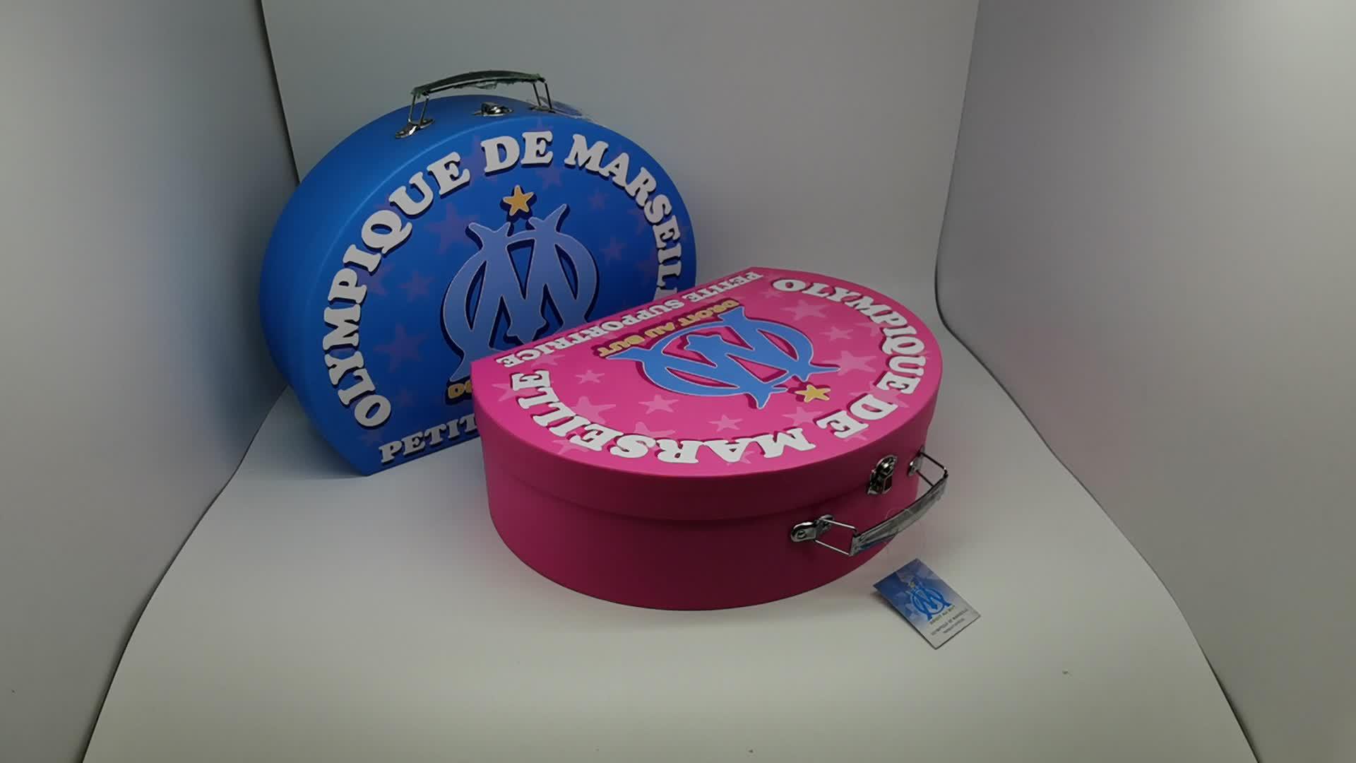 Aangepaste Decoratieve Kleine Mini Papier Kartonnen Koffer Vormige Favor Verpakking Gift Box Met Handvat