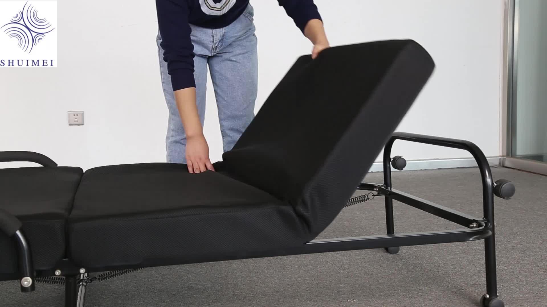 - Metal Folding Bed Memory Foam Plus Air Mesh Fabric Cover Spare