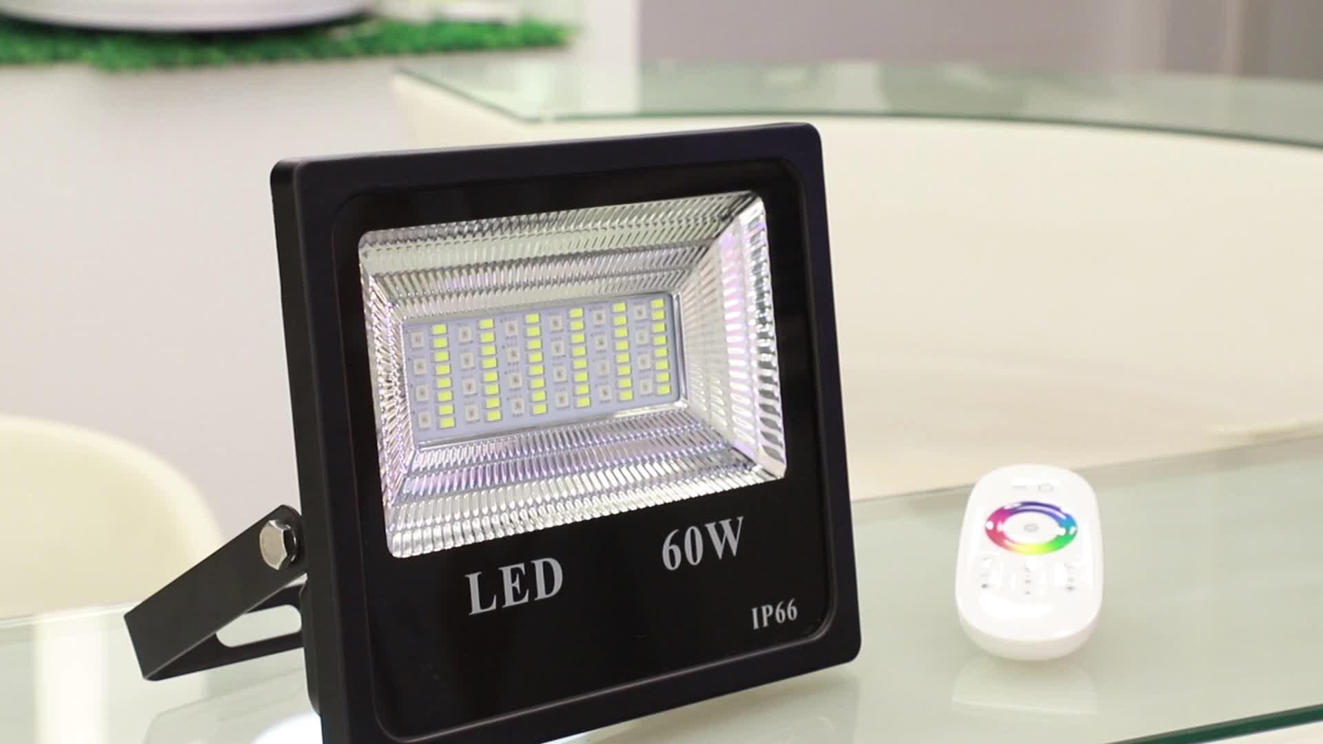 16Million Music RGBW 60W Bluetooth App Control LED Flood Lights Outdoor Led Landscape Lightings RGBW Bluetooth Smart Floodlights