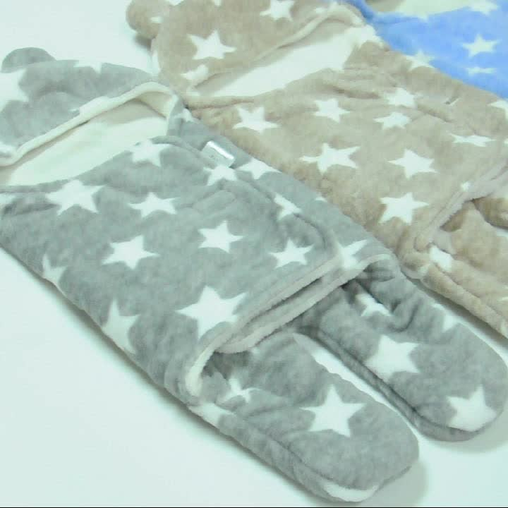 Soft Malha de Lã Capuz Swaddle Envoltório Cobertor Do Bebê Recém-nascido