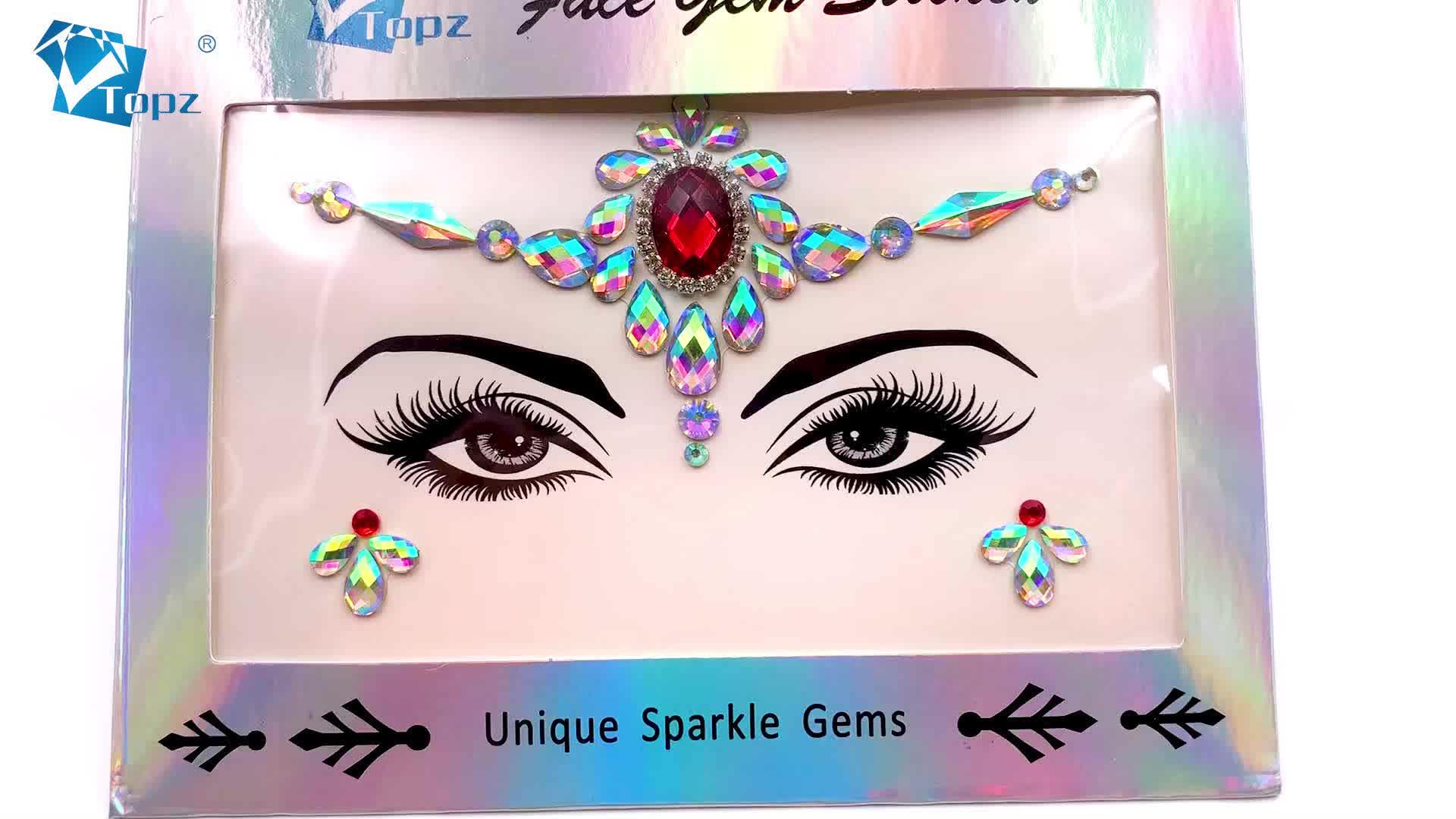 2020 yeni çingene tapınak yüz mücevherleri/vücut mücevher dövmeler noel için