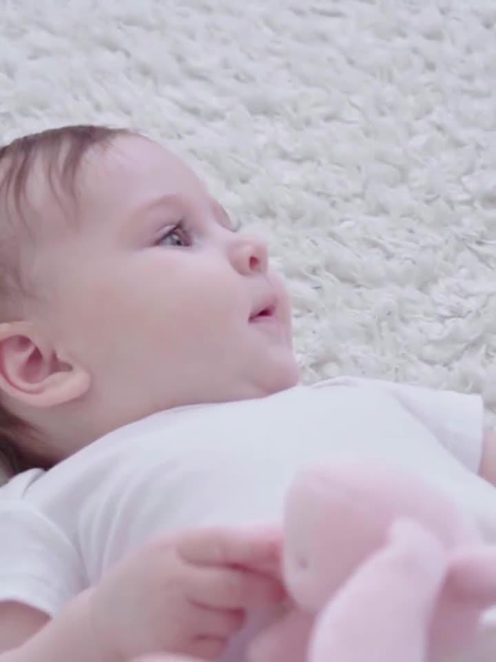 Pamuk kucaklamak tavşan bebek güvenlik battaniyesi