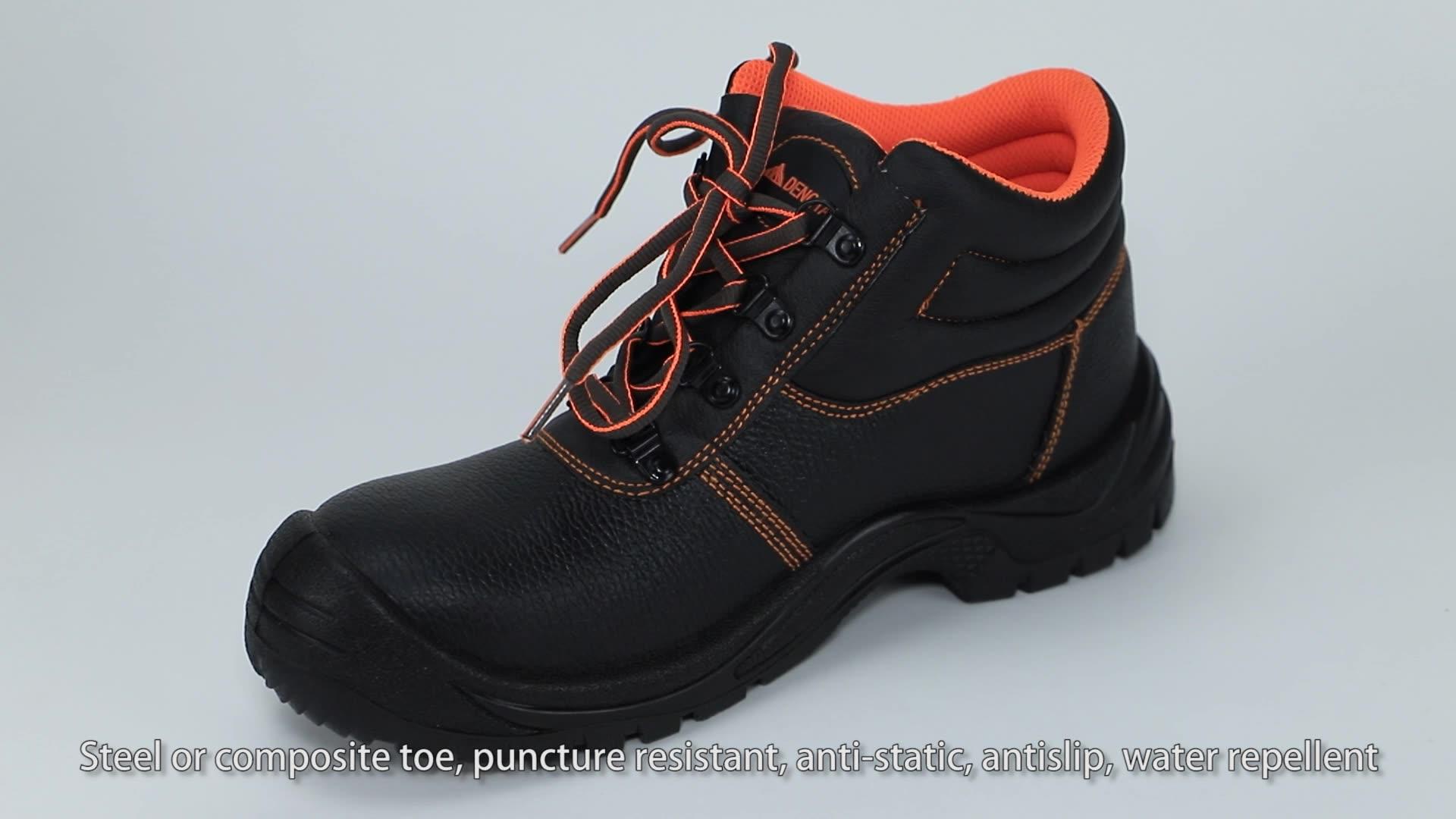 Bernapas Wear-Resistant Tahan Tusukan Bekerja Komposit Topi Baja Kaki Sepatu Safety