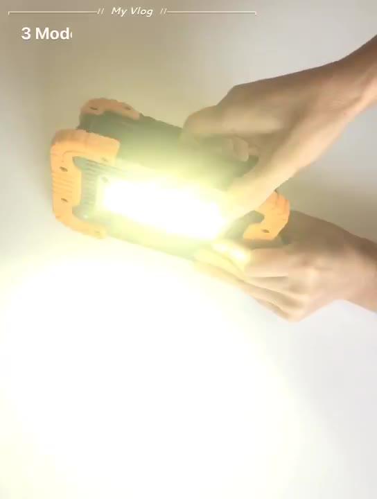 ¡Venta al por mayor de fábrica! ¡venta al por mayor! Minireflector de luz LED COB de plástico de 10 vatios para Camping