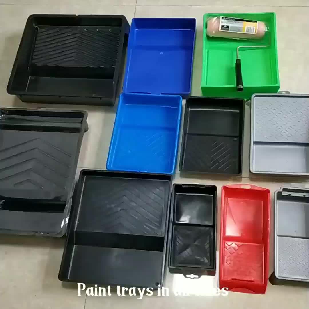 Hause Malerei Pinsel Tablett Wand Lack Hand Werkzeuge 4 Zoll Barrel Neue Kunststoff Farbe Roller Tray für Decor Arbeit