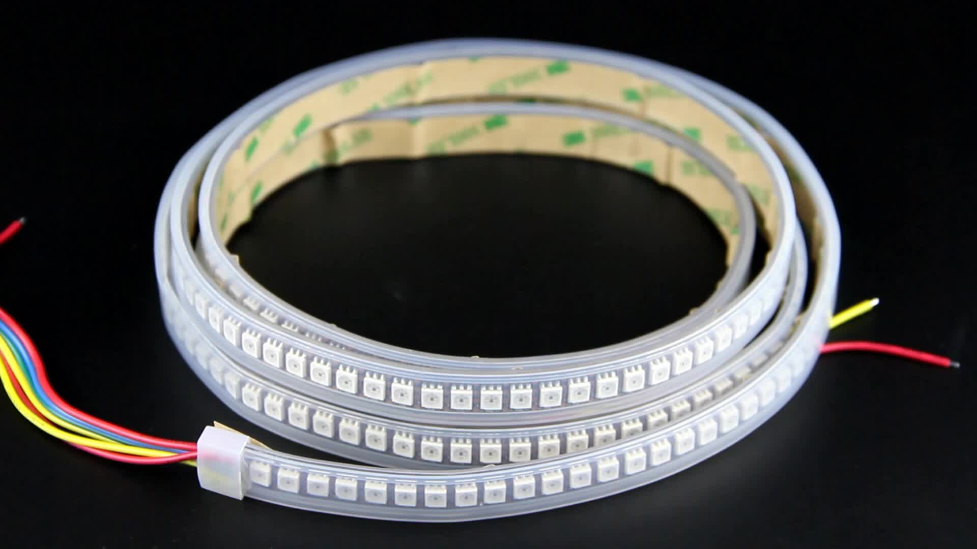 RGB color DC5V LED strip 5050 SMD 144pixels SK9822 flexible light