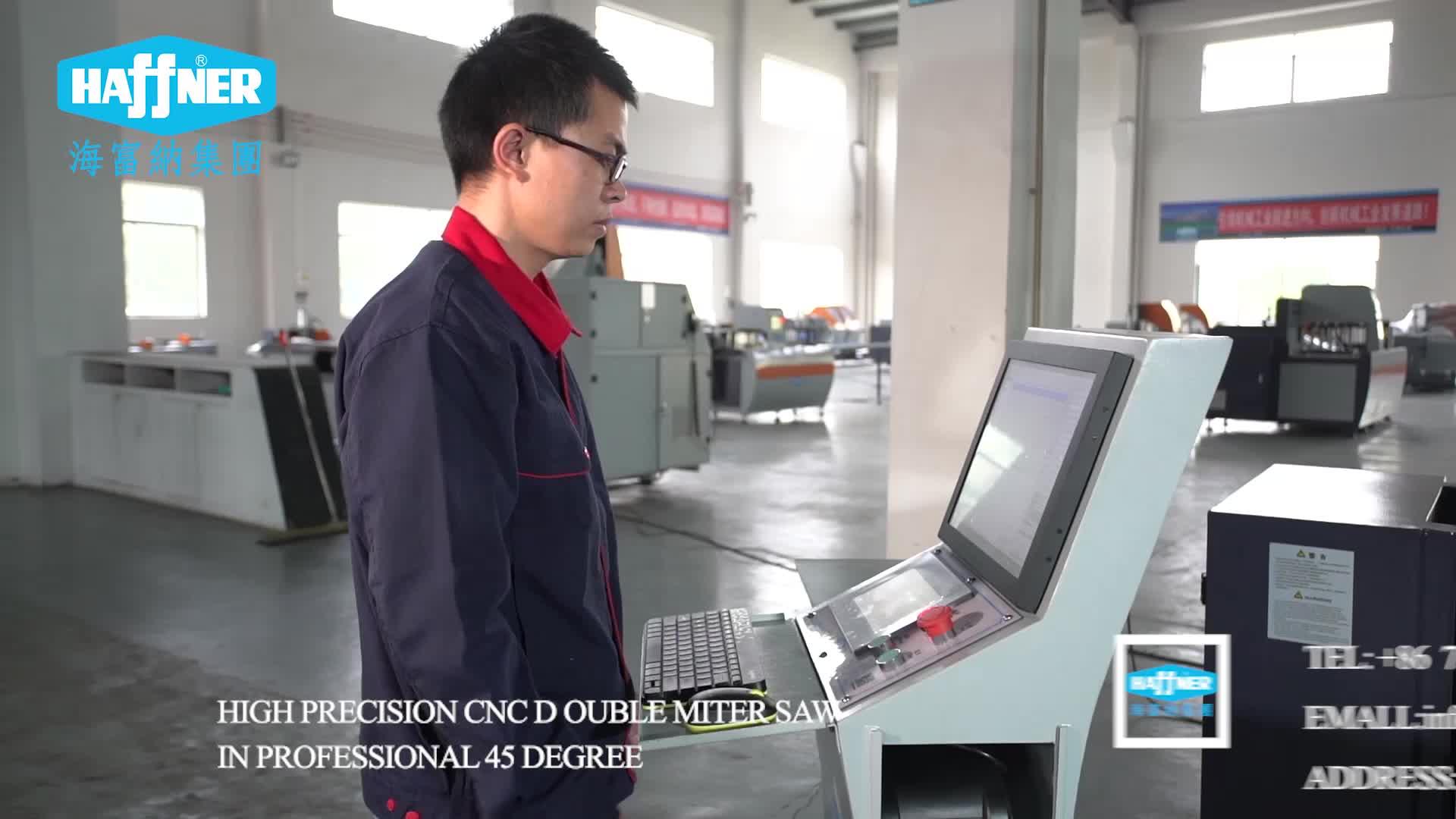 CNC 45 Graden Dubbele Verstekzaag voor Aluminium Venster Snijden