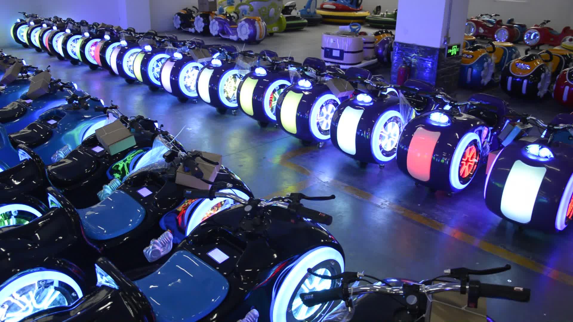 Hansel Indoor playground amusement park battery motor bikes