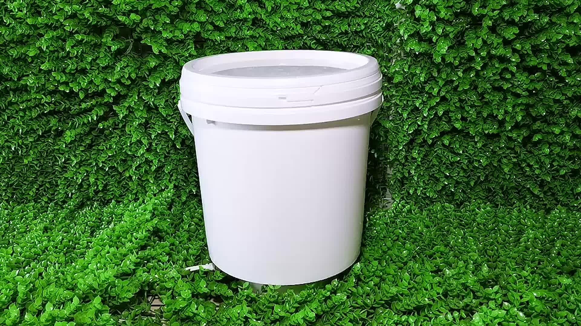 Sıcak Satış!! Özelleştirilmiş Gıda Sınıfı 20 Litre Plastik Kova 5 Galon Davul Büyük Kova Kapaklı ağrı için yağlama yağı benzinli