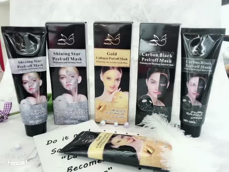 Rimozione di comedone 24 k oro collagene peel off maschera d'oro di Esportazione Melanina pulizia profonda viso maschera facciale
