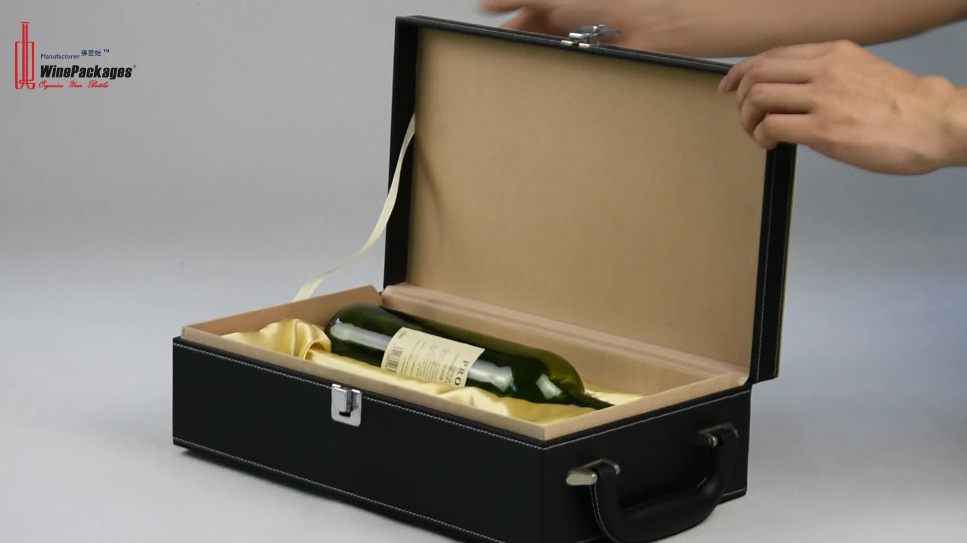 guangdong companies suppliers handmade custom unique luxury twin double paper pu leather wine gift box for 2 bottle price