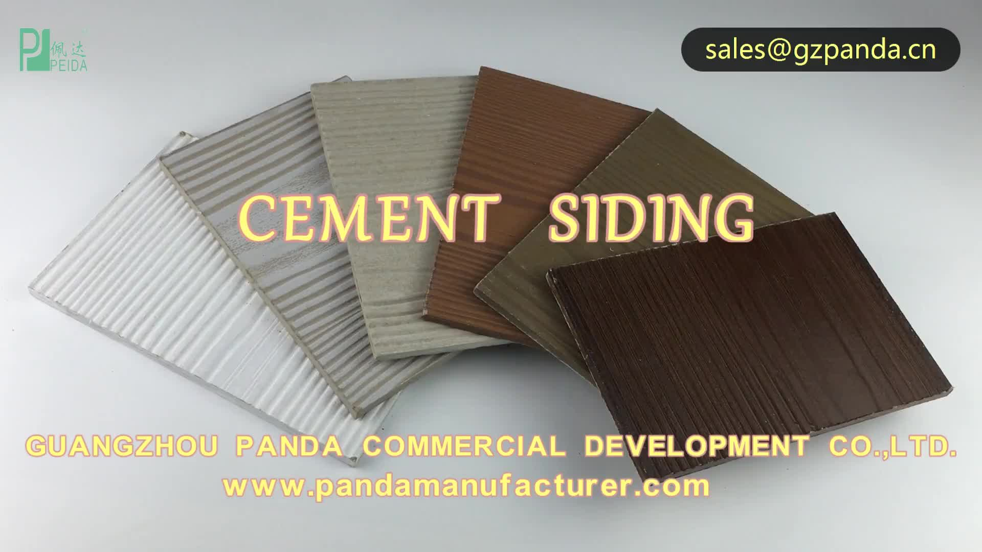 Wall Material Wood Fiber Cement Siding Panels Fire Resistance 6 mm