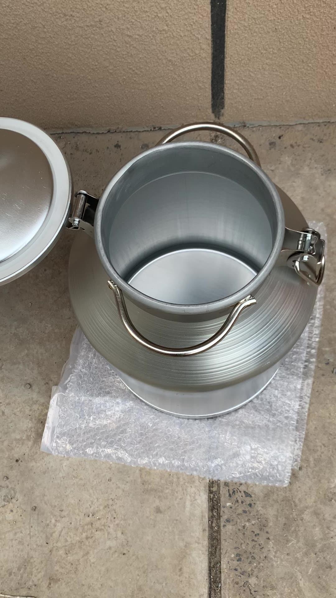 חנות מפעל הניתן לנעילה כיסוי אלומיניום חלב אחסון יכול מיכל טנק