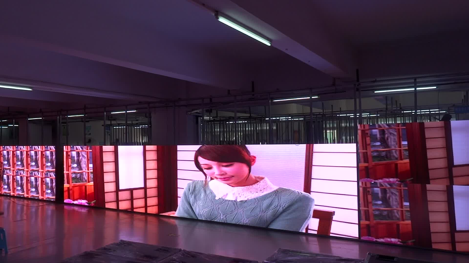 P4.81mm full color  outdoor video display function led screen