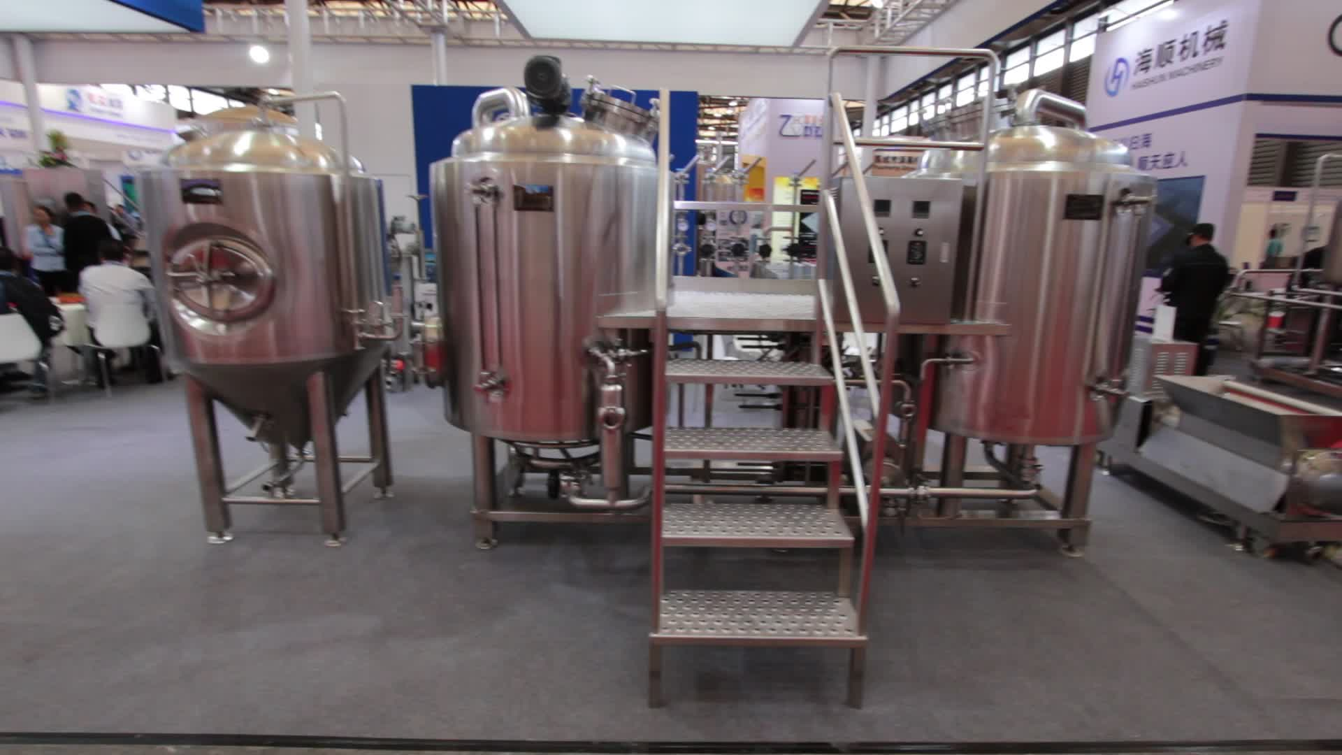 small beer production line 200L - 1000L beer brewing equipment for home restaurant pub brewhouse
