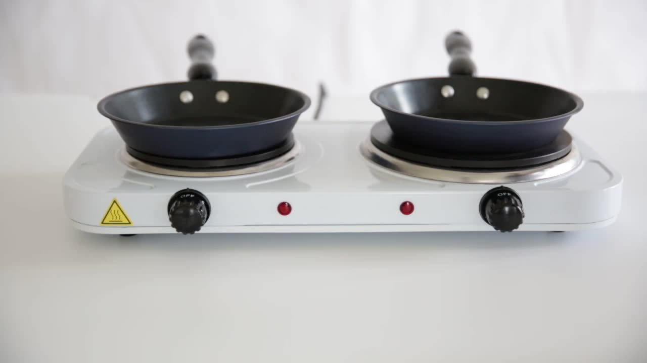 TRUST SOLID ELECTRIC HOT PLATE DOUBLE 1500W + 1000W STOVE
