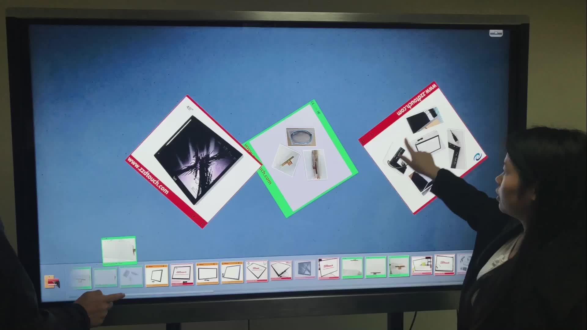 Precio de fábrica/2/4/6/10 puntos táctil 21,5 pulgadas infrarrojos panel de pantalla táctil monitor marco quiosco de diseño personalizado 10-600 pulgadas