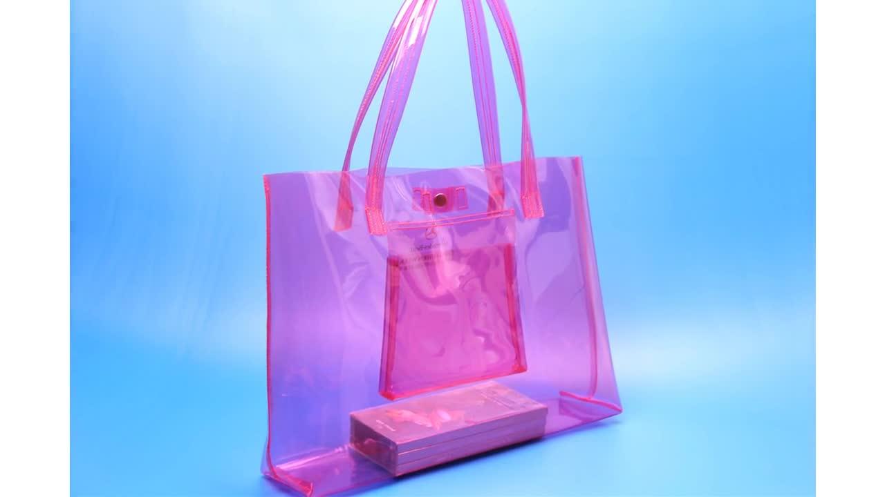 Extra große Transparente Kunststoff PVC Einkaufstasche