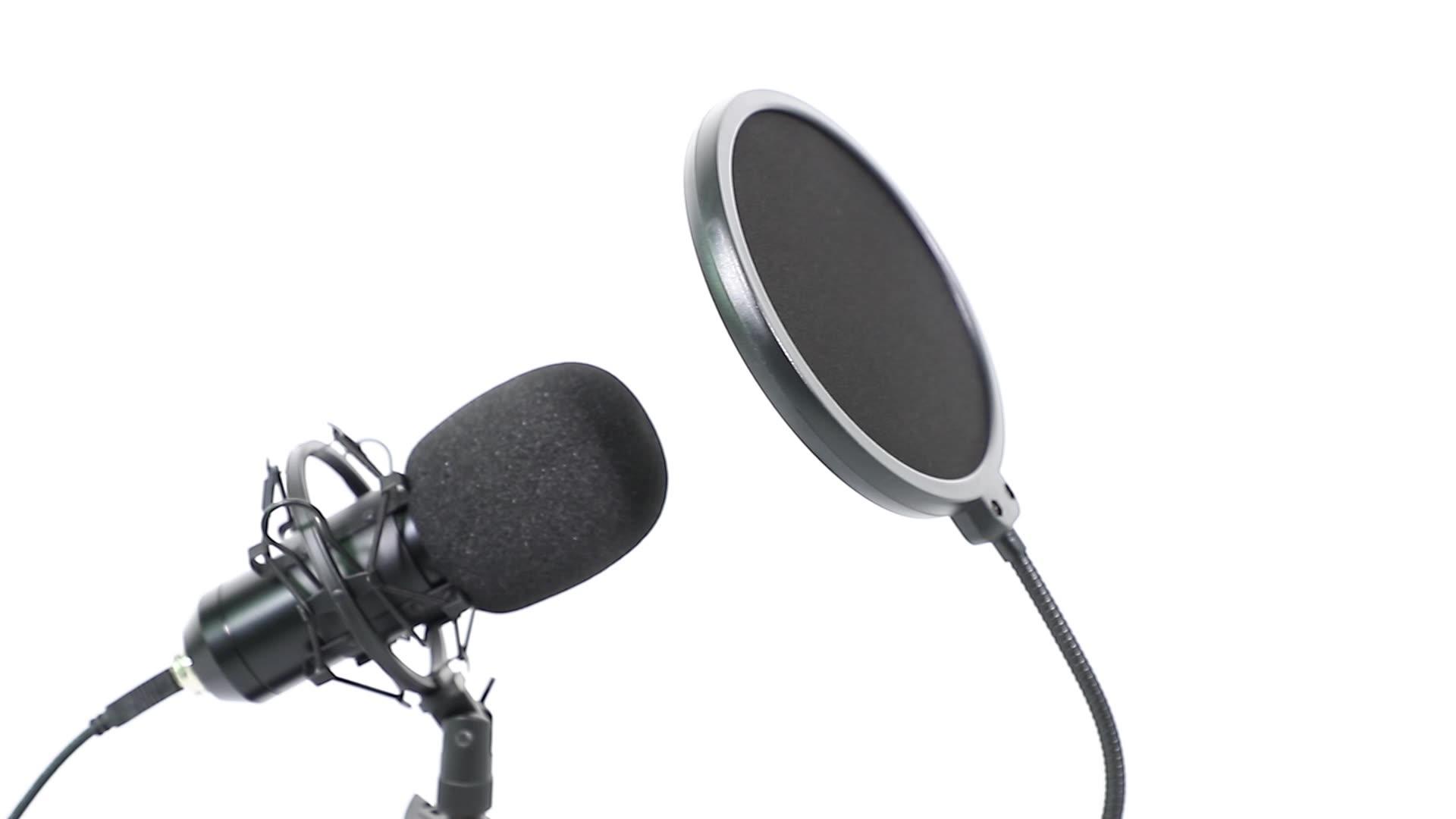 BM 800 Karaoke Condenser Microphone Bundle Professional Cardioid Studio BM800 Microfone Sound Recording broadcasting Singing Mic