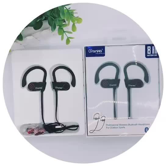 Durevole di bluetooth del gancio dell'orecchio del trasduttore auricolare senza fili di sport impermeabile ipx7 auricolare stereo per cuffie