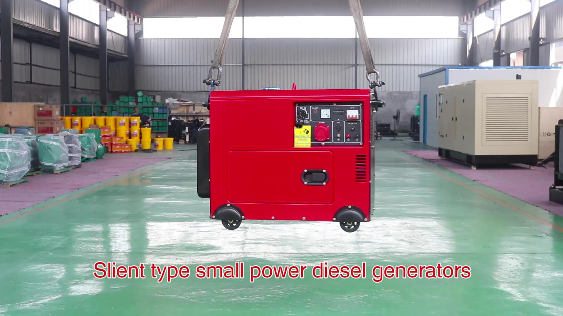5kva 4.5kw 5kw alternador ac 100% cobre portátil grupo gerador diesel preço