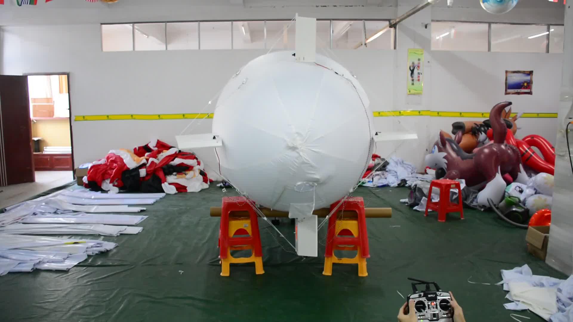 8 m largo gigante al aire libre publicidad helio dirigible RC avión inflable Zeppelin globo