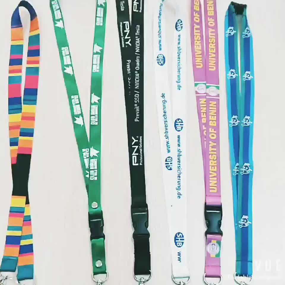 cheap customized polyester lanyard strap with polyester lanyard custom