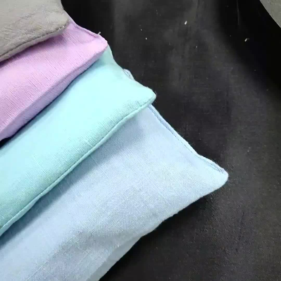 2019 new wholesale travel sleeping relax pure cotton organic flax seed aromatherapy yoga lavender eye pillow
