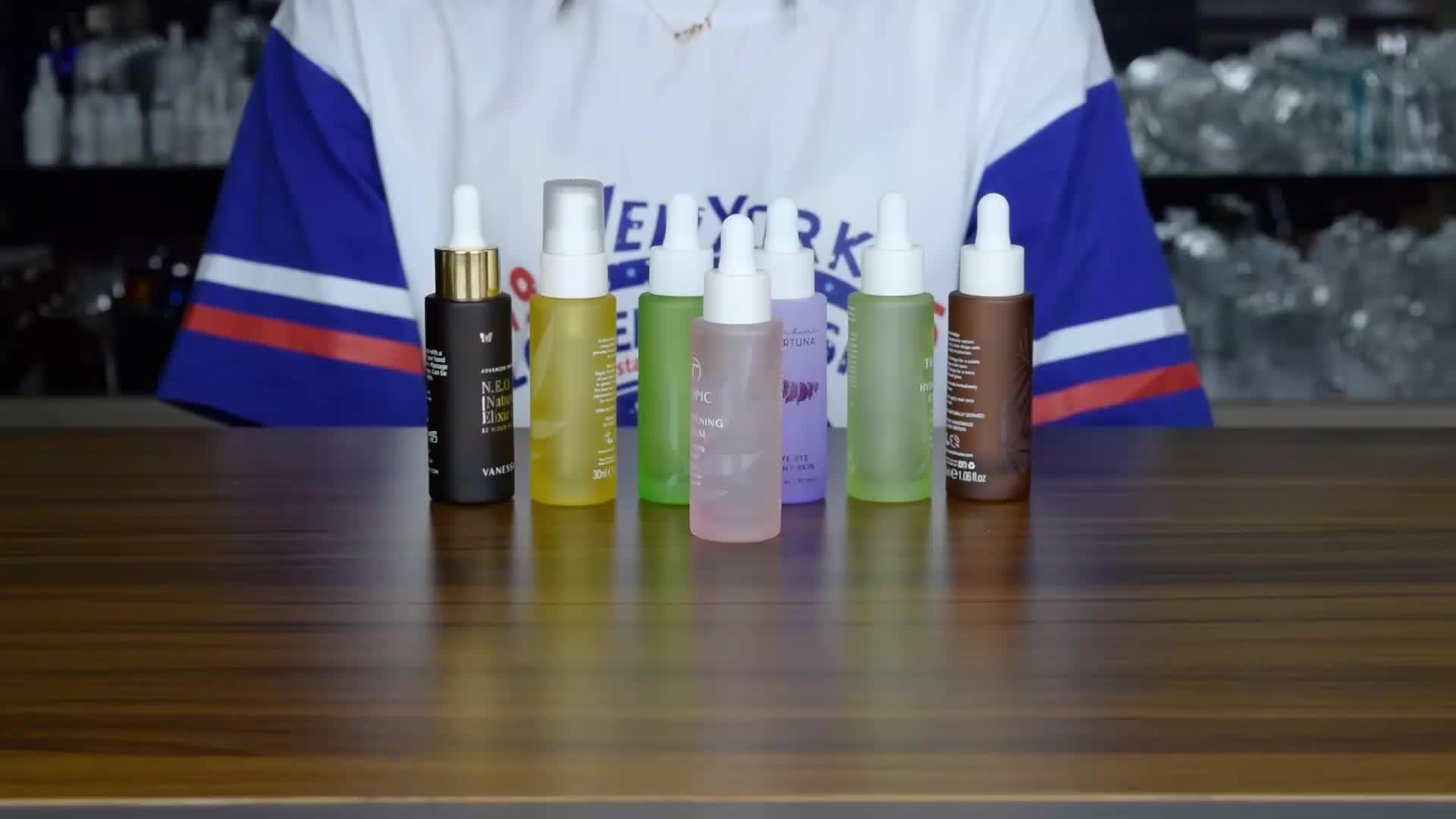 Huidverzorging pakket 30ml glas serum flessen 1oz druppelflesje