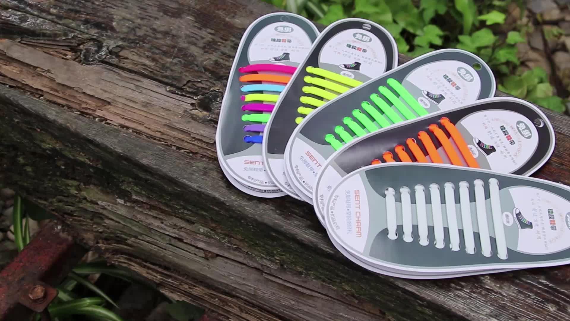Tieless 靴ひもアンブレイカブルアスレチック弾性シリコーンなしネクタイ靴ひもフラット大人のための、多色のためのスニーカーブーツ