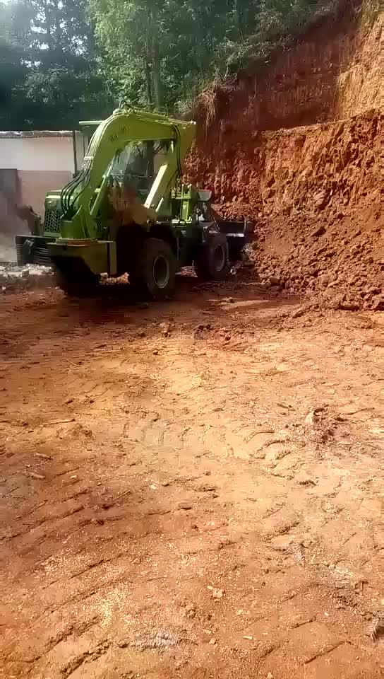 4wd ขนาดกะทัดรัดรถแทรกเตอร์ backhoe loader ด้านหน้าฟาร์ม tractor5500