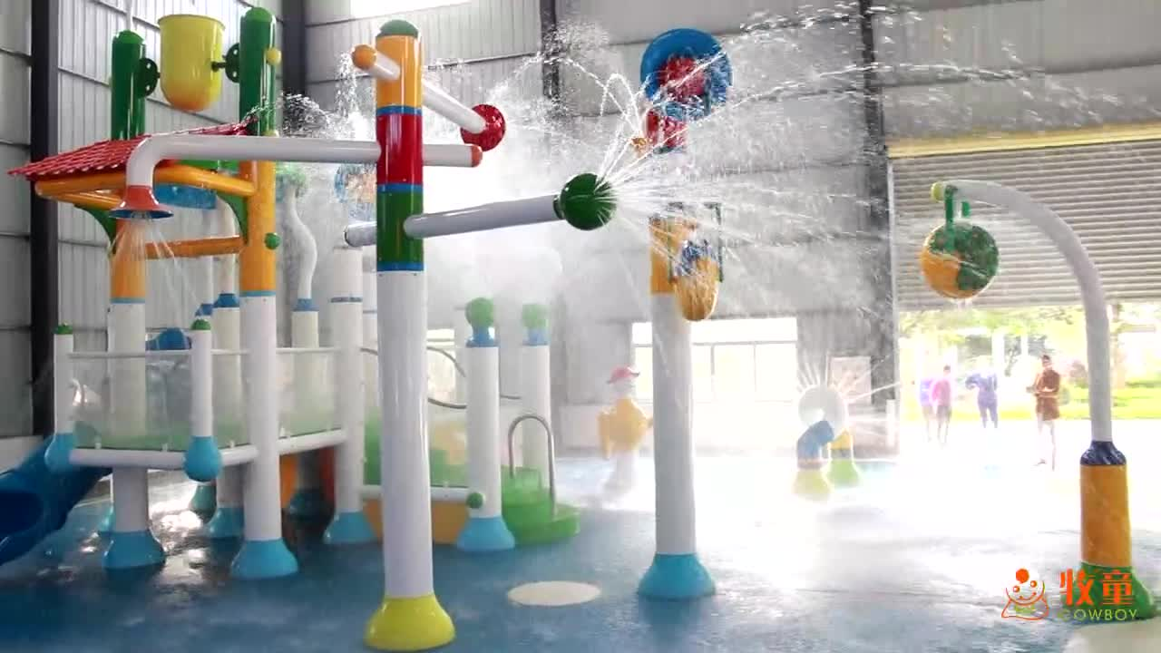 Best price children swimming pool indoor water splash park toys design