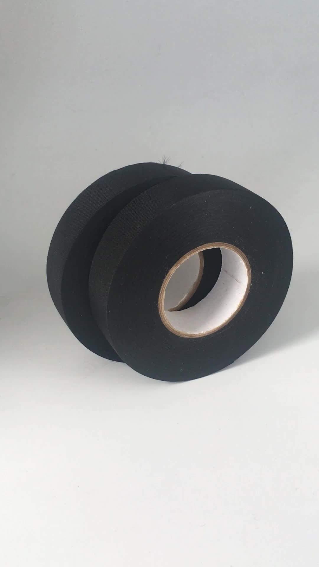 Sport tape 1 inch breed x 25 yards zwarte doek hockey tape