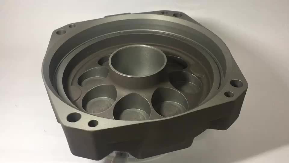 Densen customized Aluminum Gravity casting and machining valve body for high speed train,sand casting train part,parts of train
