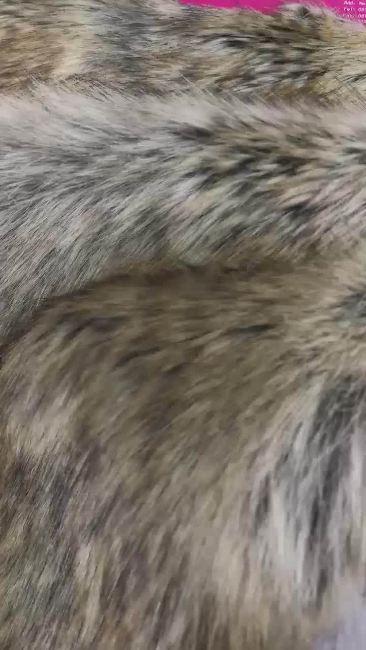 Hot sale brown eco friendle soft high pile plush fake faux fur fabric for coats